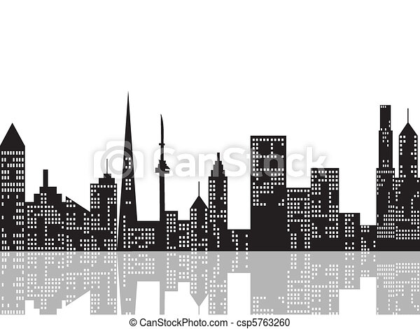 cityscape, nuit - csp5763260