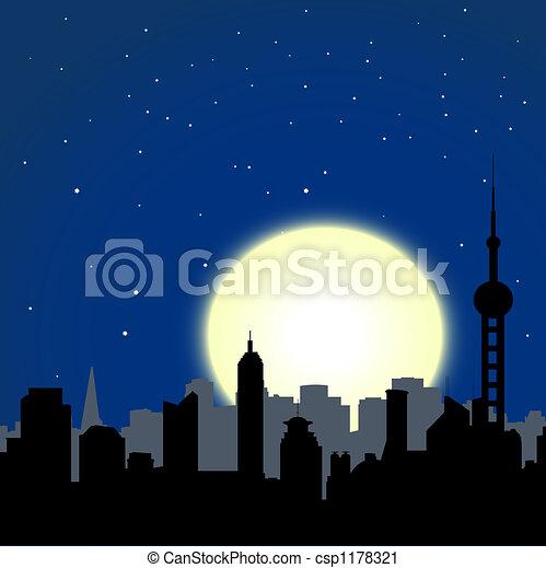 cityscape, nuit - csp1178321