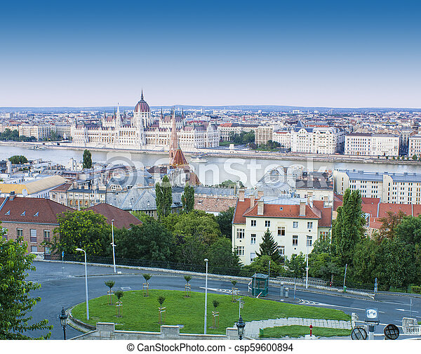 cityscape of Budapest city in Hungary - csp59600894