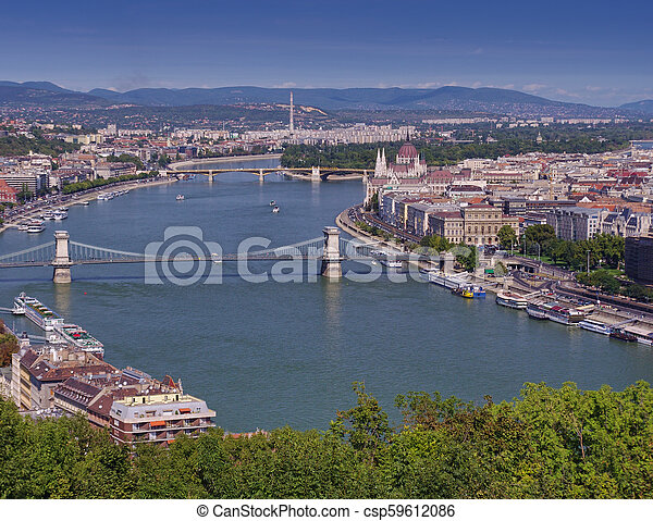 cityscape of Budapest, Hungary in a sunny day - csp59612086