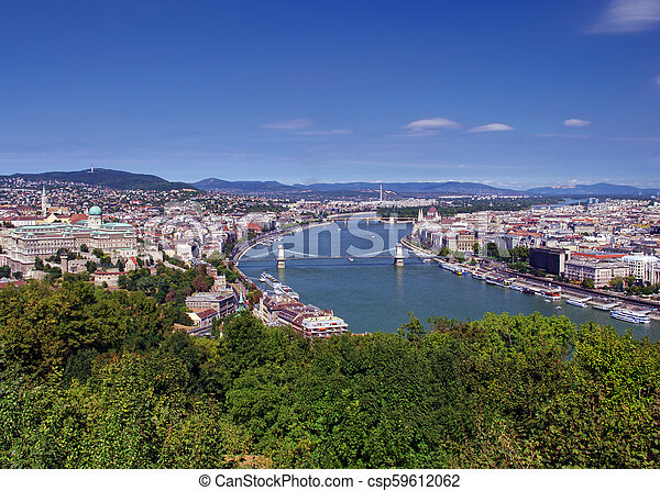 cityscape of Budapest, Hungary in a sunny day - csp59612062