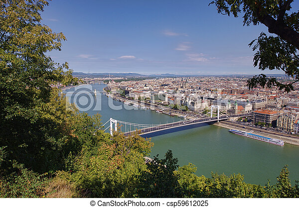 cityscape of Budapest, Hungary in a sunny day - csp59612025
