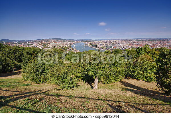 cityscape of Budapest, Hungary in a sunny day - csp59612044