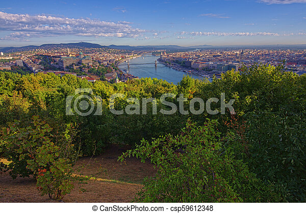 cityscape of Budapest, Hungary in a sunny day - csp59612348