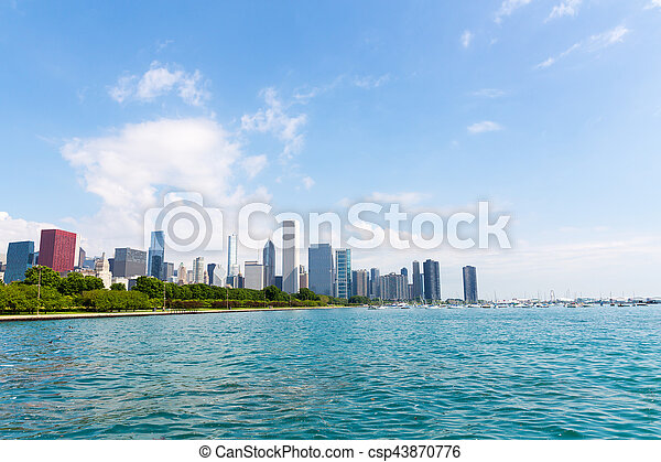Cityscape of Chicago in a summer day - csp43870776