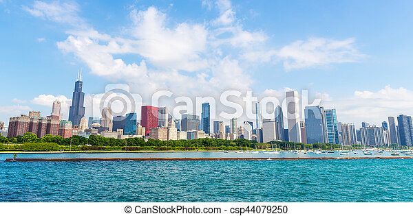Cityscape of Chicago in a summer day - csp44079250