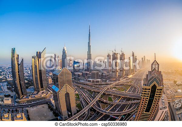 Cityscape Of Dubai With Modern Futuristic Architecture United Arab