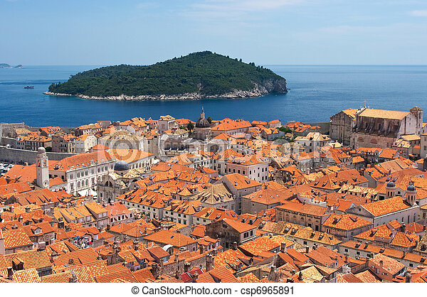 Cityscape of Dubrovnik, Croatia - csp6965891