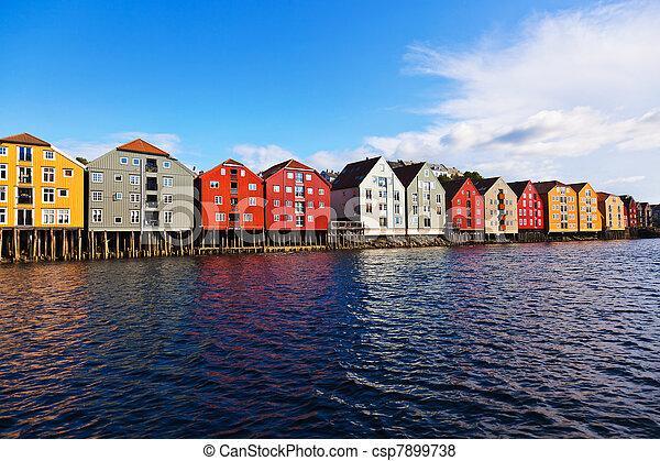 Cityscape of Trondheim, Norway - csp7899738