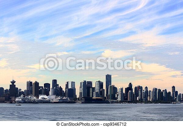 cityscape, panoramique, vancouver - csp9346712