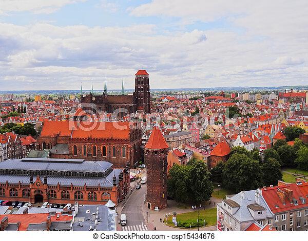 cityscape, polônia, gdansk - csp15434676