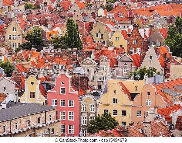cityscape, polônia, gdansk - csp15434679