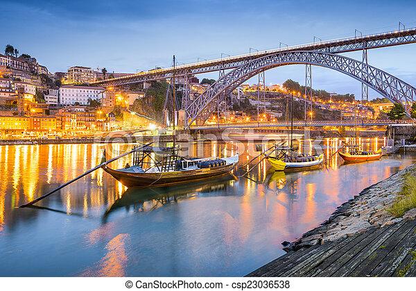 cityscape, porto, portugal - csp23036538