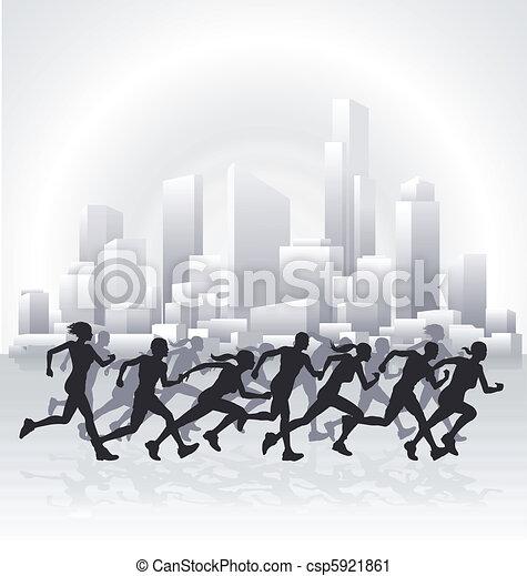 Cityscape runners - csp5921861