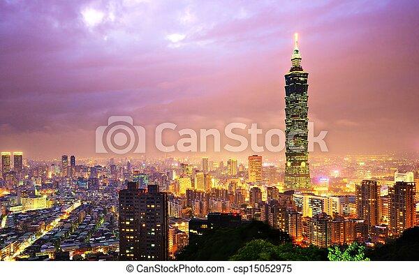 cityscape, taiwan - csp15052975