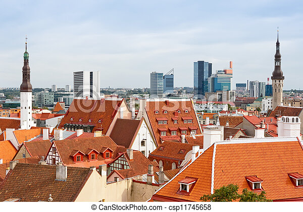 cityscape, tallinn., estónia - csp11745658
