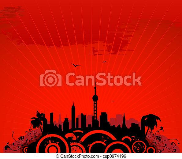 cityscape, torre - csp0974196