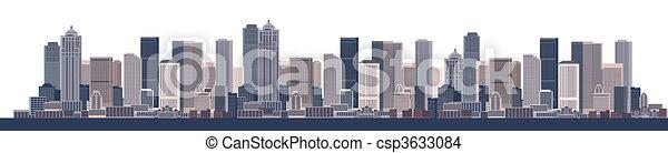 cityscape, urbain, fond, art - csp3633084