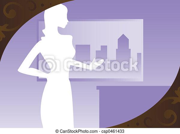 Cityscape Violet - csp0461433