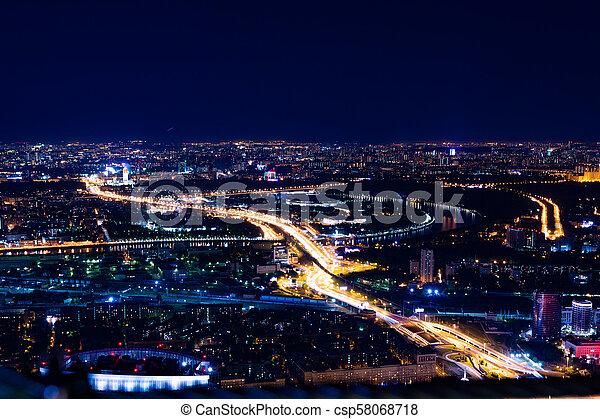 Vista aérea por la noche - csp58068718