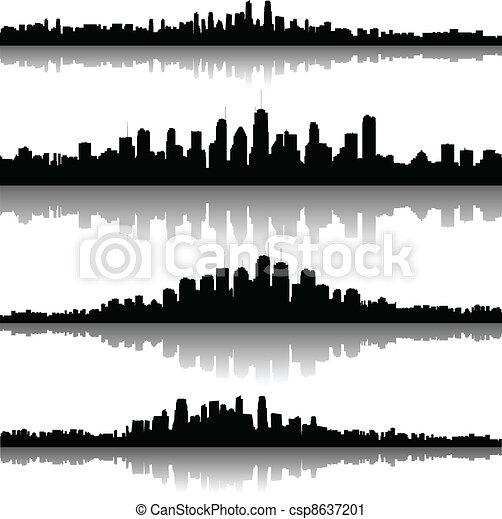 cityscapes, sylwetka, tło - csp8637201