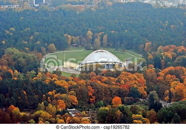 Vilnius, vista aérea de la ciudad - csp19265782