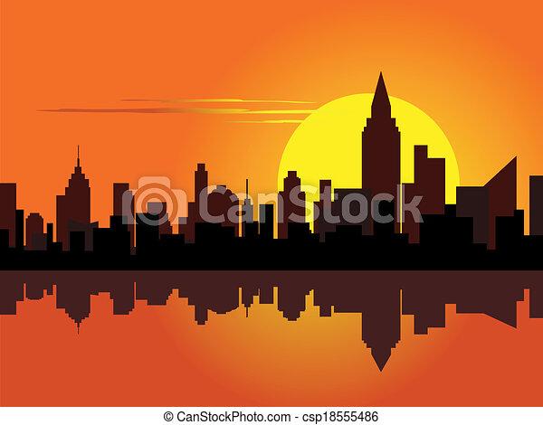 superhero city skyline