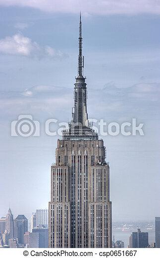 ciudad, arriba, estado, york, nuevo, cierre, imperio, edificio - csp0651667