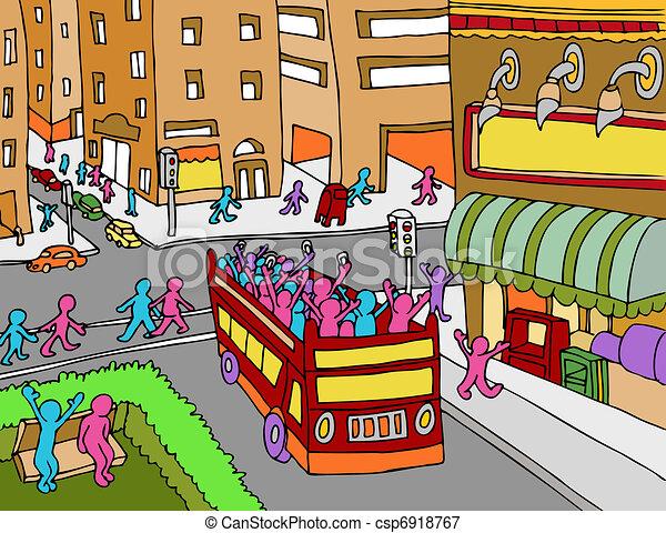 El autobús de la ciudad - csp6918767