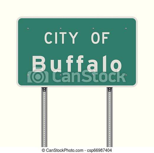 Ciudad de Buffalo Road sign - csp66987404