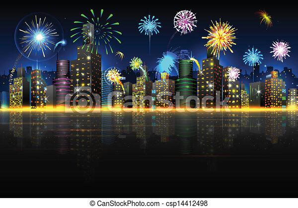 Ciudad en celebración - csp14412498