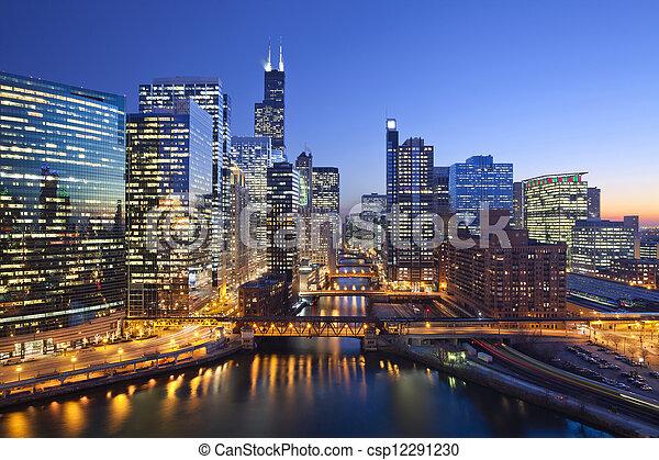 ciudad, chicago - csp12291230