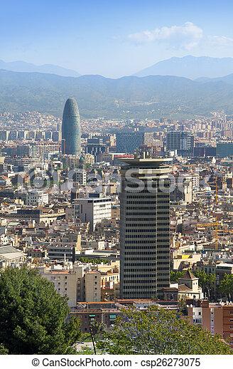 espana barcelona la mejor vista de una ciudad can stock photo