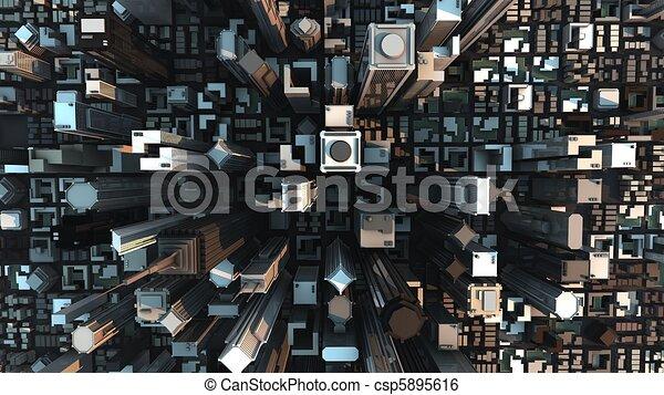El concepto de la ciudad - csp5895616