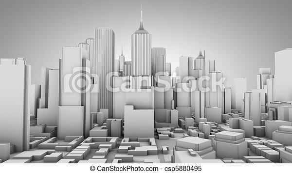 El concepto de la ciudad - csp5880495