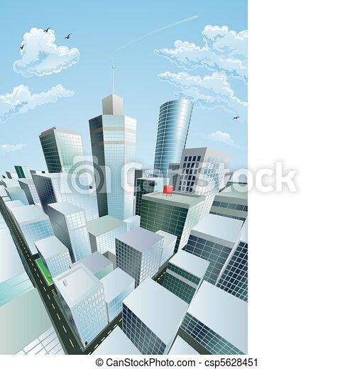 Ciudades modernas del distrito financiero del centro de la ciudad - csp5628451