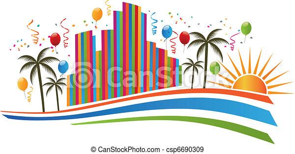 Ciudad feliz - csp6690309