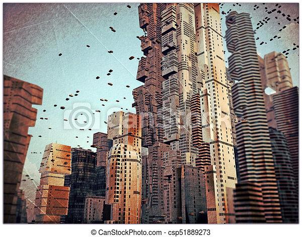 Ciudad Futuro - csp51889273