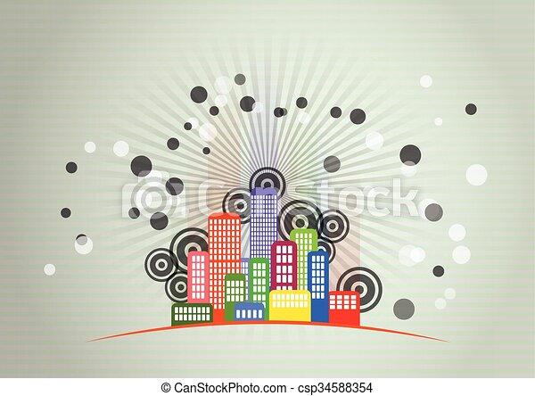 Ciudad gráfica - csp34588354