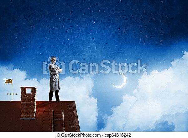 Doctor en la guardia de salud de la ciudad - csp64616242