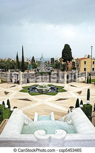 Panorama de haifa City y bahai ga - csp5453465