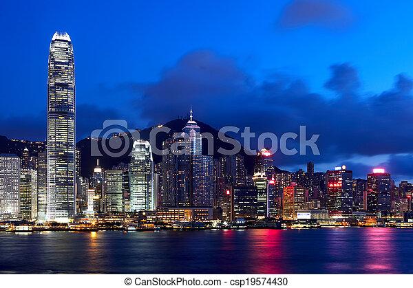 Ciudad Hong Kong - csp19574430