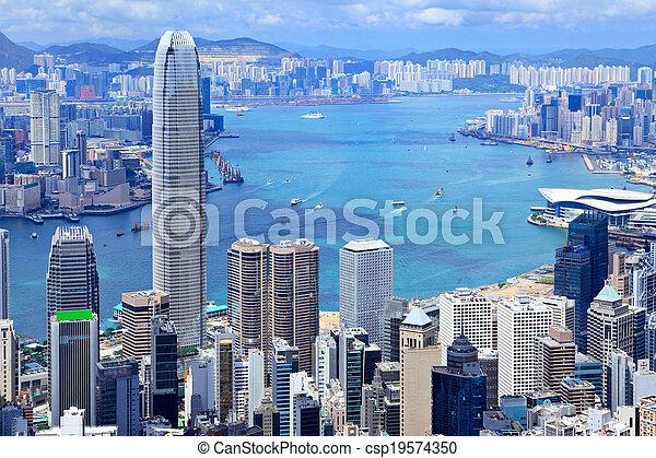 Ciudad Hong Kong - csp19574350