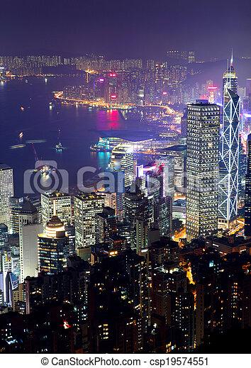 Ciudad Hong Kong - csp19574551