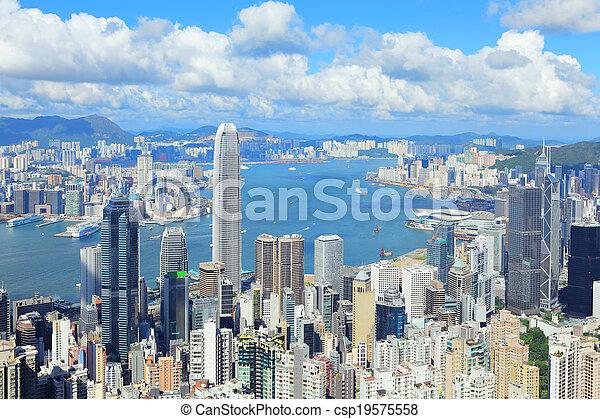 Ciudad Hong Kong - csp19575558