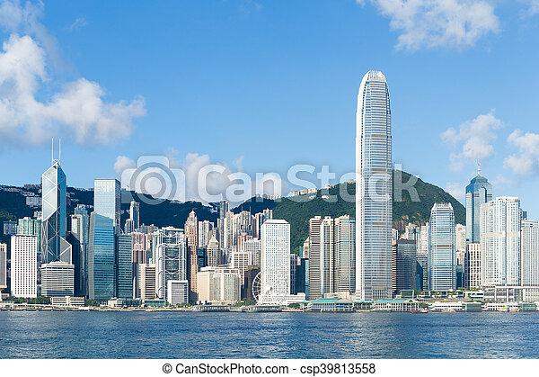 Ciudad Hong Kong - csp39813558