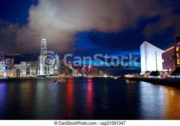 Ciudad Hong Kong - csp21591347