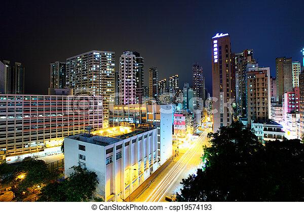 Ciudad Hong Kong - csp19574193