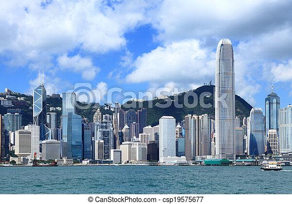 Ciudad Hong Kong - csp19575677