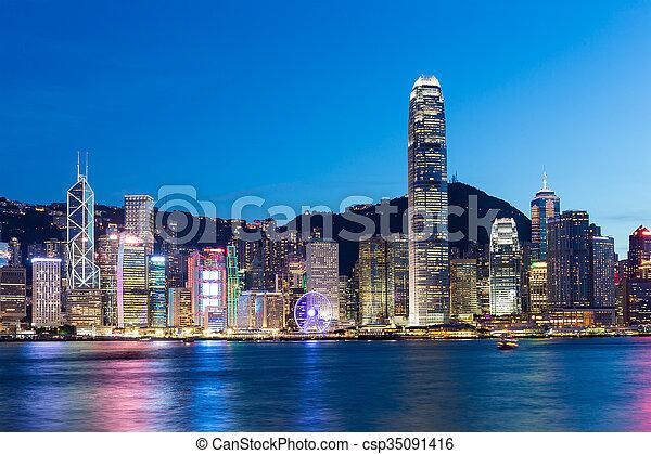 Ciudad Hong Kong - csp35091416